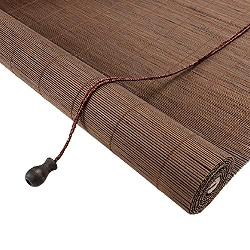 X1NGFU Persiana de Bambú Estor Enrollable de Bambú Natural,Cortina de Madera Estor Enrollable,Estor de Bambú,Estores para Ventana Tipo Gancho,para Pérgola/Exteriores,Personalizable (70x120cm/28x47in)