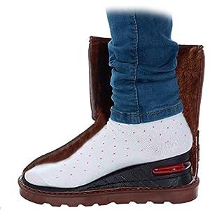 Pixnor Plantillas de aumento Plantillas Altura Camel Unisex transpirable 6 CM tres capas plantilla mayor elevador plantilla zapato cojín