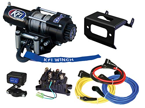 KFI Combo Kit - A2500-R2 2500 lb Winch & Winch Mount - compatible with 2016-2018 Yamaha Grizzly 700 & 2016-2018 Kodiak 700 ATV