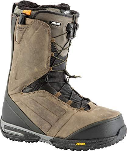 Nitro Snowboards Mejor TLS 19 Chaussures de Snowboard en Cuir Haut de Gamme avec système de Fermeture Rapide pour Homme, Homme, 1191-848441, Destressed Brown, 28.5