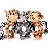 HOOPET Hundespielzeug, Plüsch, Plüschpuppe, Hundepuppe, Plüschspielzeug, Kauspielzeug, Quietschend, Robust | Kuh/Elefant/AFFE (AFFE)