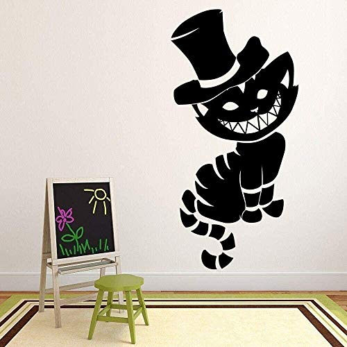 Wall Stickers,Modern Wall Decoration Bedroom Living Room Wallpaper Cute Cat Wall Decal Fairy Tale Art Mural Vinyl Window Stickers Kids Bedroom Nursery Interior Decor 57x114 cm