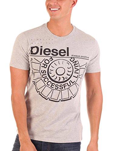 Diesel Camiseta Manga Corta Ballock Gris Claro M