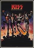 yitiantulong Heavy Metal Kiss Rock Band Carteles Equipo De Música Estrella Clásica Pintura Decorativa Cartel Pared Pegatina Arte De Pared 50X70Cm Sin Marco(A5349)