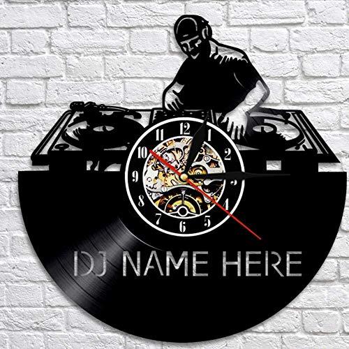 suwhao wandklok Dj wandklok gemaakt om te bestellen Dj Vinyl Record klok nachtclub muur Art Decor cadeau voor muziek liefhebbers 30X30Cm
