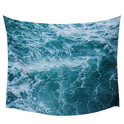 Tapiz de pared con olas de mar, toalla de playa, tapete de yoga para picnic, decoración del hogar, 180x180 cm