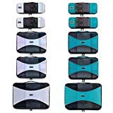 PRO Packing Cubes for Travel – Mesh, Ultralight Packing Cubes Set of 10 Pieces - YKK Zippers, Hi-Tech Nylon Fabric - Travel Luggage Packing Organizers for Backpack, Luggage, Carry-on, Suitcase