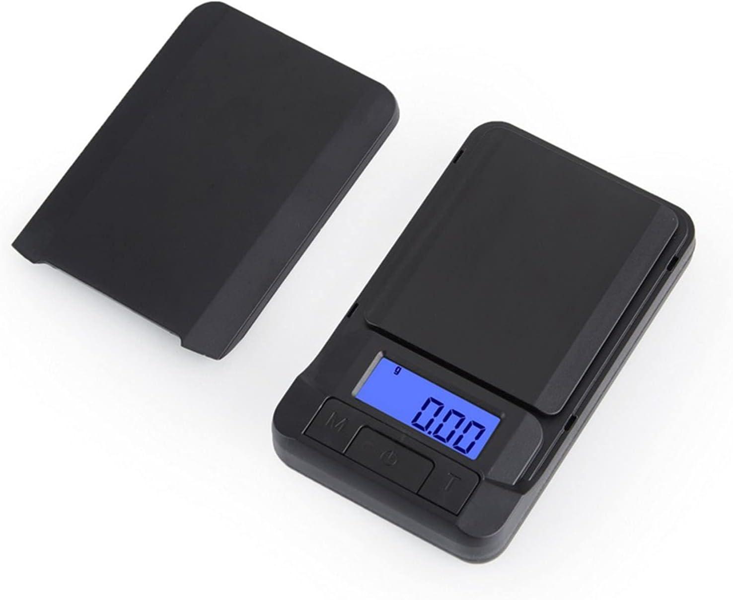 Escala de Bolsillo de miligram Digital de 0.01 g x 500g, báscula de pesaje electrónico para joyería de Carga de Monedas y Cocina, Mini gramo Escala con Peso calibrado