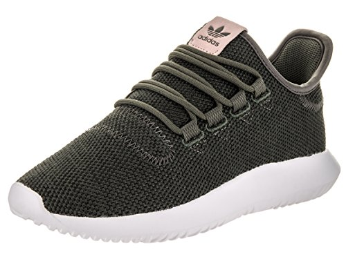 adidas Originals Women's Tubular Shadow Fashion Running Shoe, Utility Grey Black/White, (10 M US)