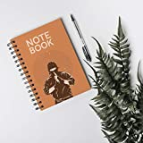 (K.245)Notebook for shopping: Dark pink cover with SAMURAI boxers. Paperback |size 6x9||200 pages| (English Edition)