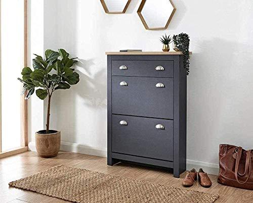 HYJMJJ Ranura de Calzado Ajustable Organizador de Zapatos 2 Puertas 1 cajón Zapatero gabinete Azul Azul Rack de Soporte de Zapato de Ahorro de Espacio