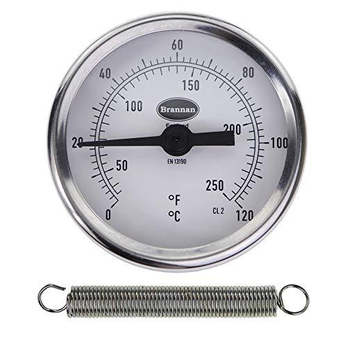 Thermomètre sur le Clip pour tuyau/Eau chaude Thermomètre pour tuyau de poêle