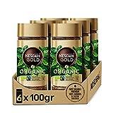 Nescafé Gold Organic Café Soluble Ecológico 100% Arábica - 6 Frascos De 100G - Total: 600G