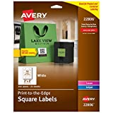 Avery Square Labels for Laser & Inkjet Printers, Sure Feed, 2' x 2', 300 White Labels (22806)