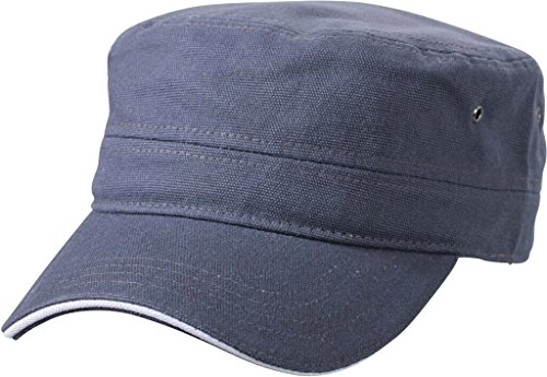 MYRTLE BEACH Casquette Type Militaire en Coton Canvas Durable (Anthracite/White)