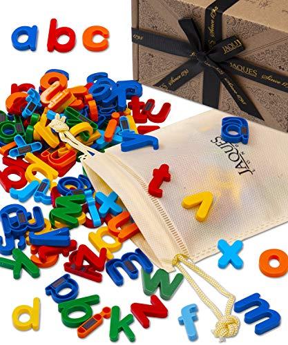 Jaques of London Magnet Alphabet Lasst Uns grundlegende Briefe Lernen – Perfekt Spielzeug ab 1 Jahr , Spielzeug ab 2 3 4 Jahre und Montessori Spielzeug seit 1795