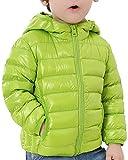 Bambini Cappotto Giacche di Piuma Leggero Giubbotti Giubbotto con Cappuccio Frutta Verde 110