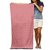 Gebrb Serviette de Bain, Serviettes, Pink Basketball Sports Pattern Luxury Polyester Outdoors Bath Sheets Large Towel for Beach Blanket Cover Tent Floor Yoga Mat 31.5' X 51.2',Soft Quick Dry