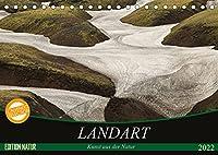 Landart - Kunst aus der Natur (Tischkalender 2022 DIN A5 quer): Land oder Nature Art ist Kunst aus, von, in und mit der Natur, die Ihren Ursprung in Amerika hat. (Monatskalender, 14 Seiten )