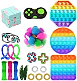Fidget Toys Set 22 Packs, Cheap Sensory Fidget Toys Pack for Kids or Adults, Fidget-Toys Pack with Simples and Dimples Fidget Toy, Anxiety Relief Toys Kill Time