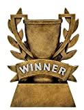 Decade Awards Winner Cup Trophy | Gold Laurel Wreath Winners Cup Award - 6 Inch Tall - Engraved Plate on Request