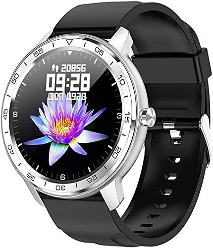 YLB Pulsera de Reloj de Moda Inteligente Pantalla de Pantalla Grande Multi-Sport Fitness Tracker Sleep y Otra monitoreo multifunción (Color : Black i)