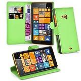 Cadorabo Hülle für Nokia Lumia 535 in MINZ GRÜN -