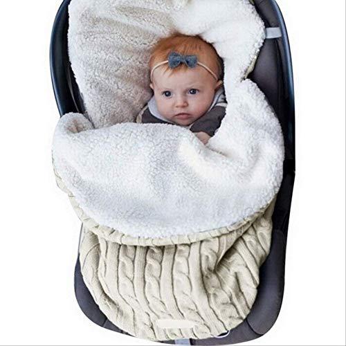 VBNM Saco de Dormir Saco De Dormir para Bebés De Invierno Algodón Grueso Ropa De Cama para Niños Cojín Recién Nacido Manta Cochecito Infantil Saco De DormirBeige