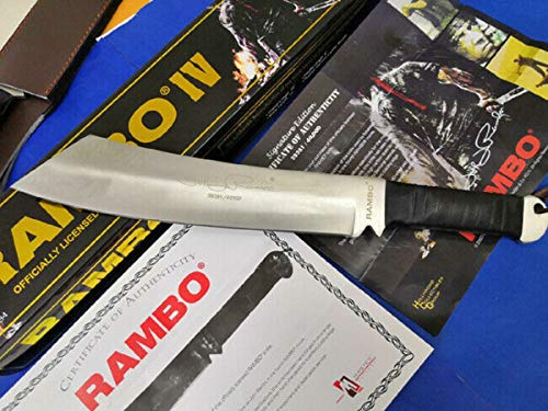 Original Rambo 4 - First Blood Part IV Messer - Limitierte Signatur Edition John-Rambo - 1 von 40.000 Stück - wunderschönes Sylvester Stallone Rambo Sammlermesser *ORIGINAL - NEU - OVP*