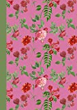 Aesthetic Notebook A4: Beautiful Lined Journal Notebook. 120 pages. 8.3x11.7 inches. Pink and Red Roses and Trumpet Vines. (Vintage Design Aesthetic Notebooks)