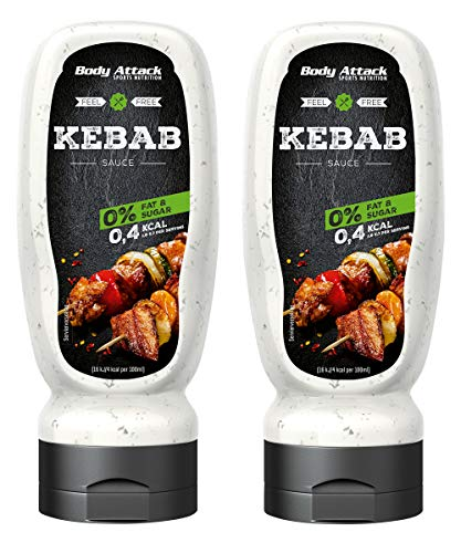 Body Attack Grill Sauce - Vegan und Low Carb 2 x 320ml (Kebab)