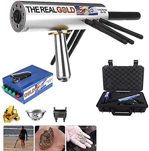 LLGHT Detectores de Metales para Adultos, Profundo, geolocalizador Real AKS de Rango múltiple, Sistema de detección subterráneo de Oro y Plata auténtico, 3 Sistemas de búsqueda, Negro