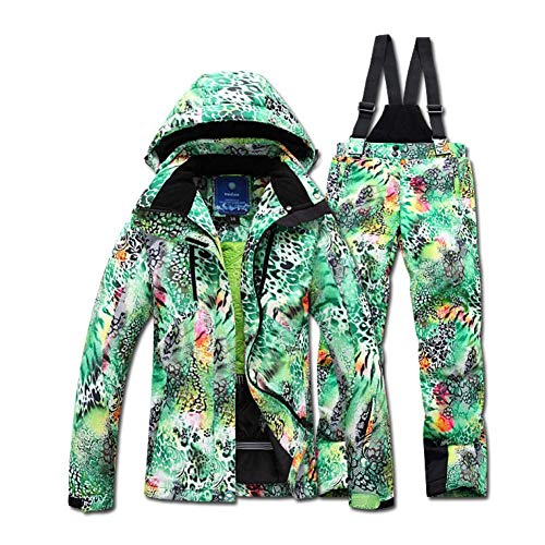 BCOGG Winter Skianzug Damen Jacke Set Winddicht Wasserdicht Warm Big Yards Bunt Hell Frau Skianzug Sets Damen M Armee Grün