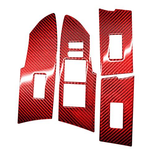 shiyi 4 Unids Configurados para Toyota Corolla 2014-2018 Cubierta del Panel del Interruptor De La Ventana De La Ventana De La Ventana De La Fibra De Carbono Diseño Ingenioso Delantero Decorativo