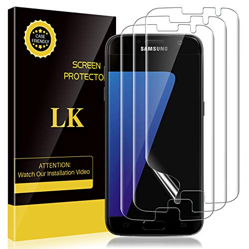 LK 3 Pack Screen Protector for Samsung Galaxy S7...