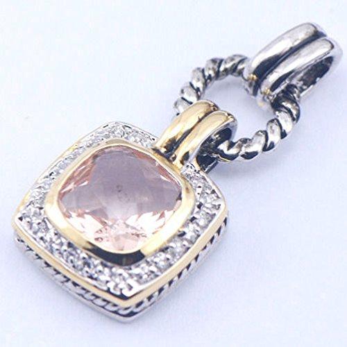 Ddang - New Morganite 925 Sterling Silver Gemstone Pendant TE359 Pendant necklace JEW 0394