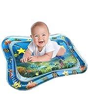 JKKJ Kids Opblaasbare Water Mat, Baby Water Mat Leuke Activiteit Play Center Uw Baby's Stimulatie Groei Water Gevulde Speelmat voor Baby's & Peuters