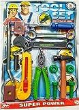 AK Toys Plastic Tool Set for Kids, Pretend Playset, Tool Set Construction Tools