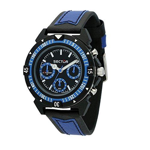 SECTOR NO LIMITS Herren Multi Zifferblatt Quarz Uhr mit Stoff Armband R3251197056
