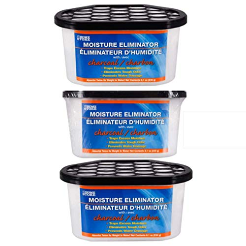 TopNotch Outlet Dehumidifier Pellets - Charcoal Moisture and Odor Eliminators (3 Tubs) Trap Moisture Remove Odors and Prevent Mildew - Active Charcoal - Moisture Absorber