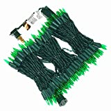 150 Green Christmas Lights, Green Wire LED Lights String 50 Ft, UL Certified Commercial Grade New Durable Mini Lights Set, for Indoor Outdoor Halloween Party, Garden, Patio.