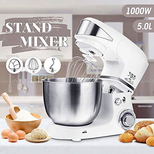 Stand Mixer, 5L Blenders Bowl, Met 1000W Dough Hook & Balloon Klop Met 6 Versnellingen Mixers, Voor Taarten, Batters, Brood, Mixers & Food Processors