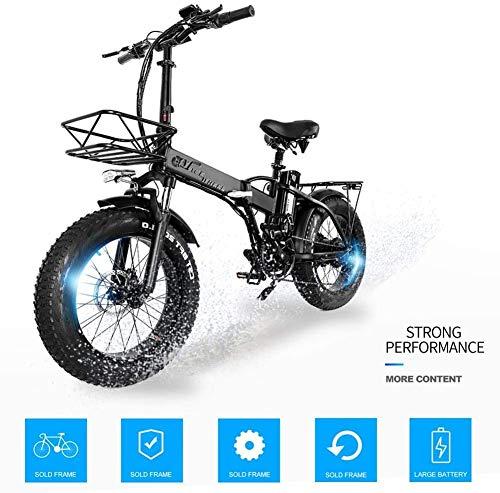 Bicicletta elettrica da 20 '500W Cruiser Bicicletta Ciclismo Batteria ad alta capacità 48V15Ah Sospensione a 5 marce Doppio freno a disco meccanico a forcella 4.0 Bici da neve Fat Tire 40 km/h