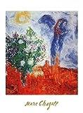 1art1 Marc Chagall - Couple Au Dessus De St. Paul Poster