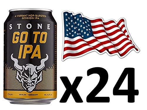 Cerveza Americana Stone Go To IPA, Pack de 24 latas