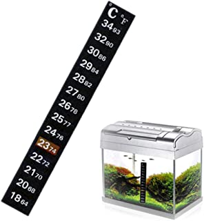 Eyourlife 20 Pack Stick-on Digital Temperature Thermometer Strip Degree Adhesive Strip Vertical Aquarium Thermometer Strip for Beer, Tea, Brewing, Fish and Reptile Tanks