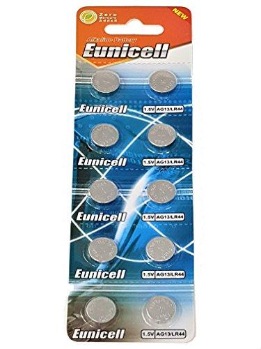 Eunicell EUNICELLBASICS Alkalibatterien (AG13 Alkaline, 10 Batterien auf 1er Blistercard)