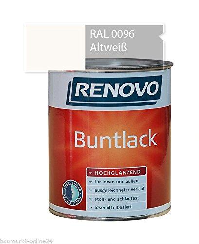 Buntlack 750 ml RAL 0096 Altweiß Hochglänzend Renovo