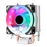 Feicuan Dissipatore di processore LED Ventola 90mm 3 Pin 2 Tubi di Calore a Contatto Diret...