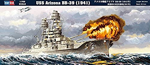 Hobbyboss 1 700 Scale USS Arizona BB-39 (1941) Assembly Kit by Hobbyboss